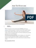 Cómo practicar Tai Chi en casa