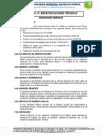 FORMATO N° 12-ESPECIFICACIONES TECNICAS