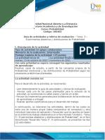 Guía de actividades y rúbrica de evaluación – Tarea  3 – Probabilidad Condicional y distribuciones de Probabilidad