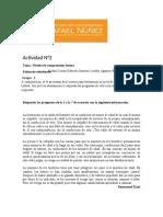 Actividad N2- Niveles de Compresión Lectora