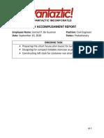 DAILY ACCOMPLISHMENT REPORT (Sept.19)