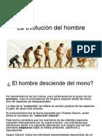 1La evolución del hombre