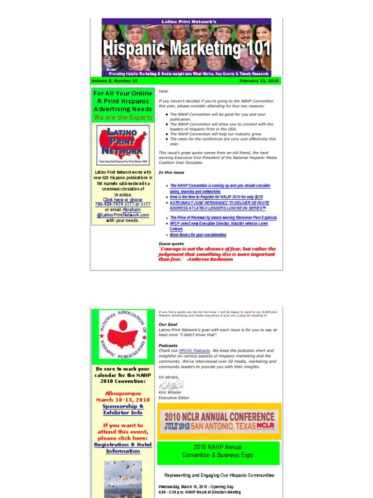 Hispanic marketing 101 volume 8 15 hispanic and latino hispanic marketing 101 volume 8 15 hispanic and latino americans advertising xflitez Images