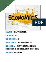 Economics Project Class 12