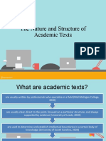 EAPP STRUCTURE OF ACADEMIC TEXTS