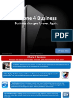 iPhone 4 Business - Sales ppt V 20 09 2010