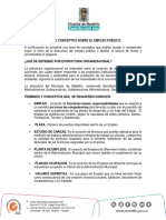 5 Conceptos Planta de Empleos
