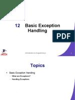 JEDI Slides-Intro1-Chapter12-Basic Exception Handling