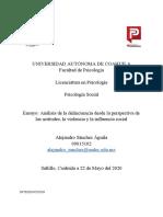 Alejandro Sanchez - Ensayo- Evaluación