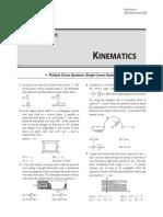 Class Test-01. Kinematics