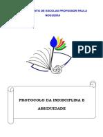 protocolo da indisciplina e assiduidade