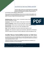 Installation de nessus 8.10.0 sur kali Linux Debian amd.64