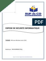 EXPOSE DE SECURITE INFORMATIQUE
