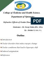 RE &ocular disorders