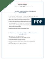 Rodent System-Do's & Don't for Maser V2 Models