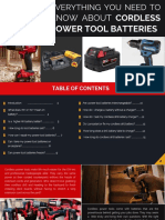 Everything You Need to Know About Cordless Power Tool Batteries