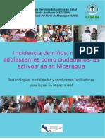 Incidencia de niños, niñas y adolescentes como ciudadanos/as activos/as en Nicaragua (2010)