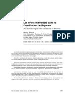 Les Droits Individuels Dans La Constitution de Bayonne