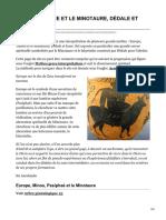 Greekmyths-Interpretation.com-europe Thésée Et Le Minotaure Dédale Et Icare