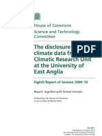 The Disclosure of Climate Data From the Climatic Research Unit At
