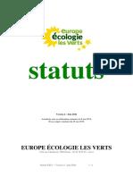 Statuts d'Europe Ecologie Les Verts