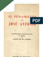 El pensamiento de Jose Antonio