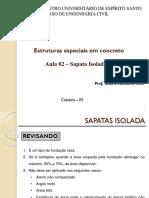 Estruturas especiais em concreto - Aula 02 - Sapata Isolada