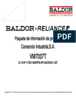 FICHA TECNICA BALDOR MOTOR ANTIEXPLOSION DE 2 HP