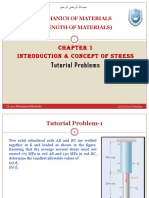 CE302 MECHANICS OF MATERIALS Chapter 1 - Tutorial Problems