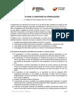 CRITÉRIOS PARA A CONCESSÃO DE DERROGAÇÕES