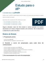 PM Tech - PMP Plano de Estudo