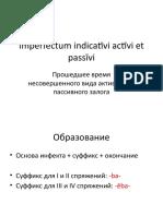 3. imperfectum activi et passivi