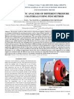Design and Static Analysis of Different Pressure Vessels and Materials Using Fem Method