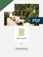 Flyers massages - Hôtel Baume, Paris