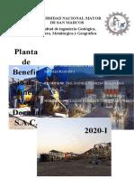 La planta de Beneficio de Minera Veta Dorada