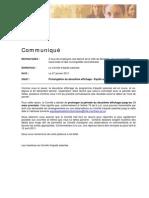 Communique - Prolongation 2e Affichage