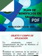 1. PLAN DE BENEFICIOS RESOLUCIÓN  3512 DE 2019