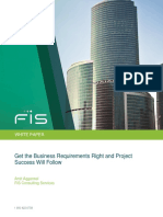 get the business requirements right