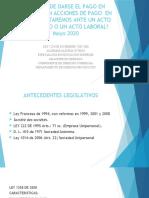 LAS ACCIONES DE PAGO (EN ESPECIE)