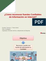Fuentes Confiables de Información