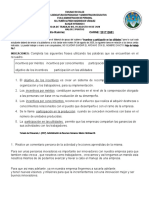 Hoja de Trabajo n 4 Al 01 de Agosto Administracion de Personal