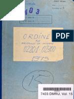 Ordinele Ministrului de Interne nr. II/02270 din 01.12.1975 şi II/02271 din 28.11.1975