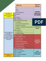 Contenido de Informe de Proyecto de Graduación AVANCES