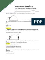 FÍSICA 10° N° 03 TIRO PARABÓLICO