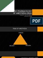 BASIC PHARMACOLOGY OF ANESTHESIA DRUG