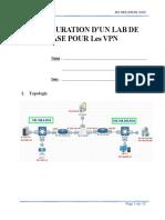 TP02 Configuration de lab pour le vpn