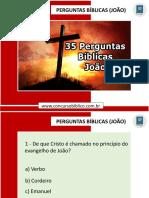 35 Perguntas Evangelho de João