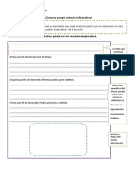 Producción textual artículo informativo 3°A Y B