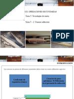 Tema 5.1-2 Uniones Adhesivas y mecanicas