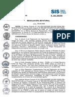 RESOLUCIÓN JEFATURAL N 108 2020 SIS Verificación Gratuidad de Atención
